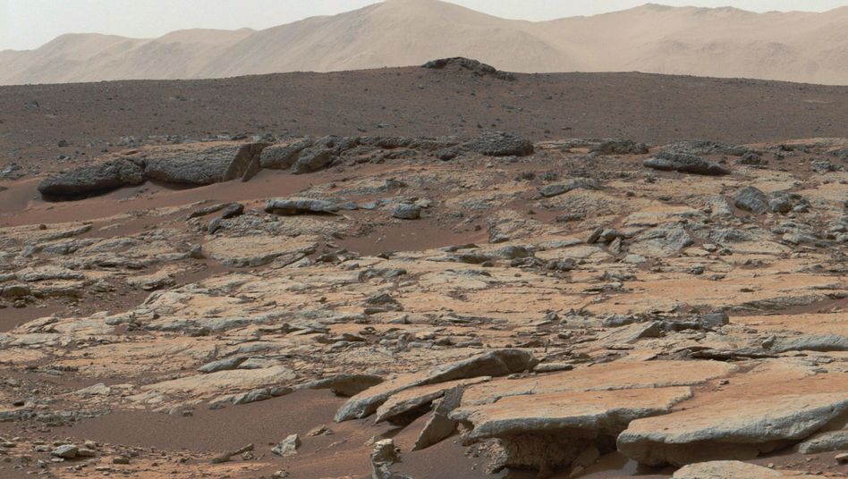 Mars-Panorama (Archivbild): Dünne Atmosphäre wohl wegen Sonnenstürmen