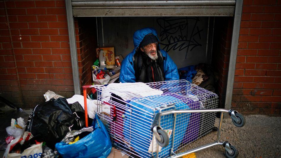 Obdachloser in Manchester