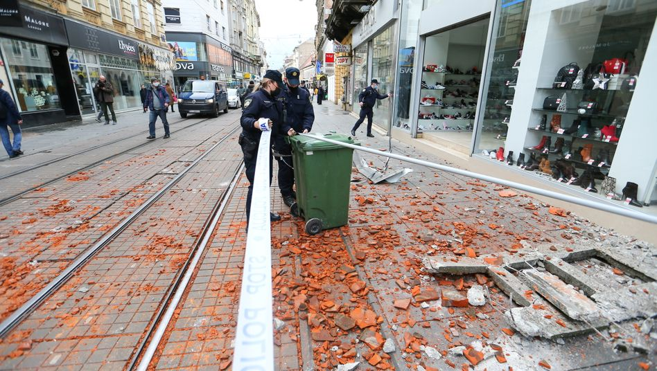 Zagreb nach dem Erdbeben