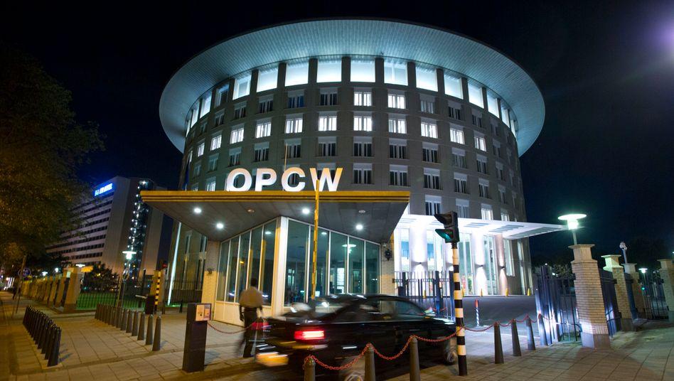 OPCW-Sitz in Den Haag: Die Organisation hatte schon 2018 festgestellt, dass Chlorgas eingesetzt worden war