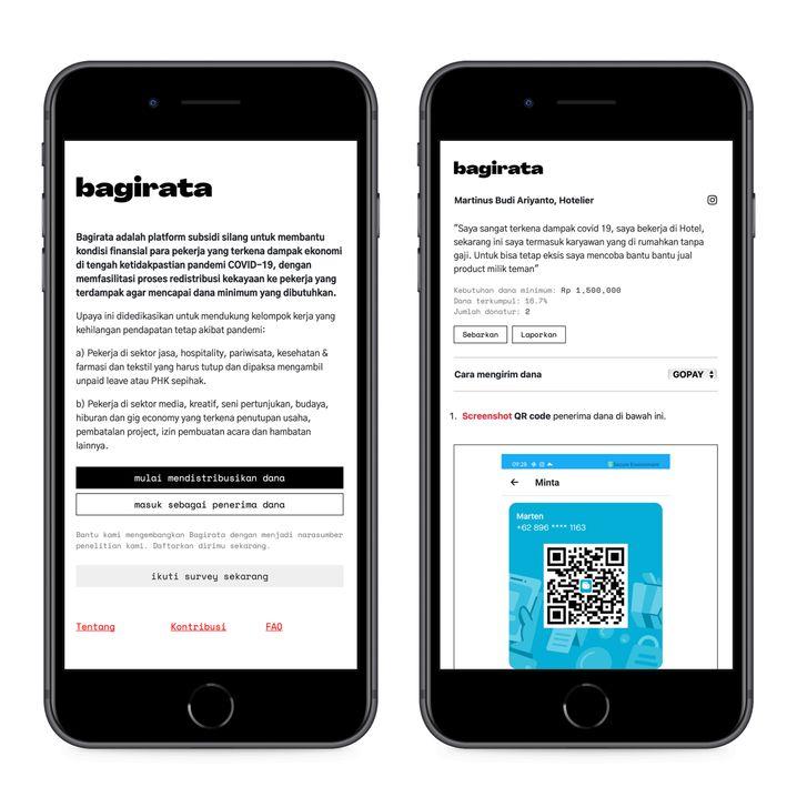 Die Plattform »Bagirata« – zu Deutsch »gleich verteilen« – vernetzt Menschen in Not mit Unterstützern