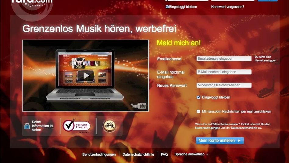 Neues Musik-Angebit Rara.com: Vier Majors sind dabei