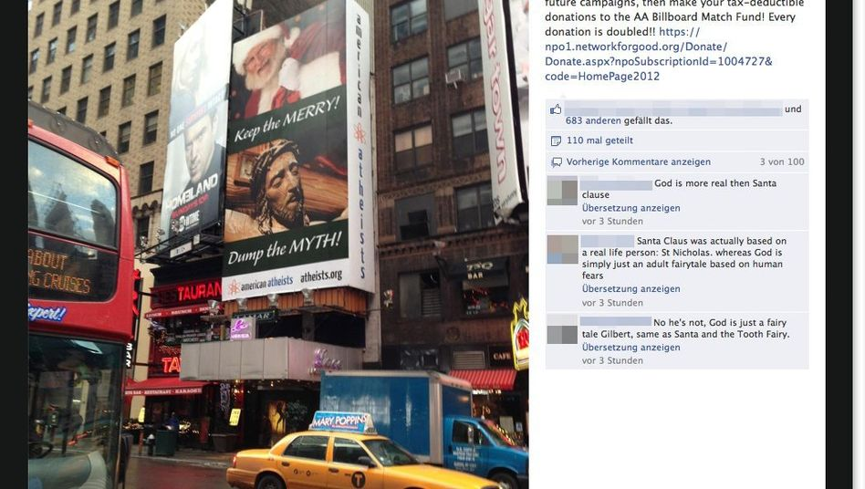 American Atheists: Umstrittenes Plakat am Times Square