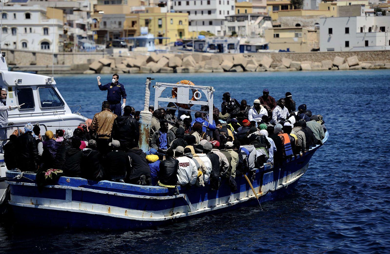 Lapedusa/ Libyen/ Flüchtlinge