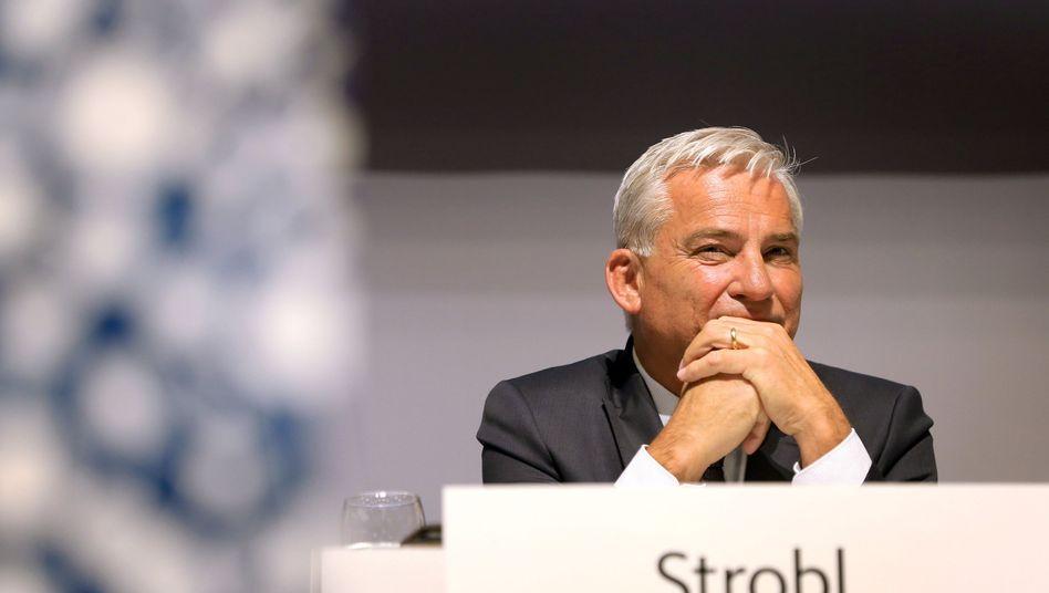 Thomas Strobl auf dem Podium. Tritt er 2021 an?