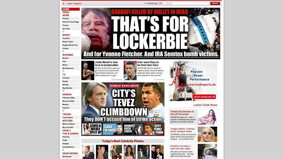 """Britische Tageszeitung """"The Sun"""": """"Das ist für Lockerbie"""""""