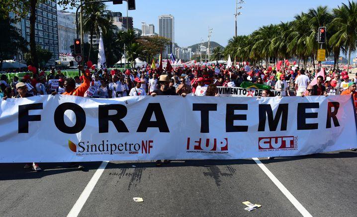 Protest gegen Interims-Präsident Temer