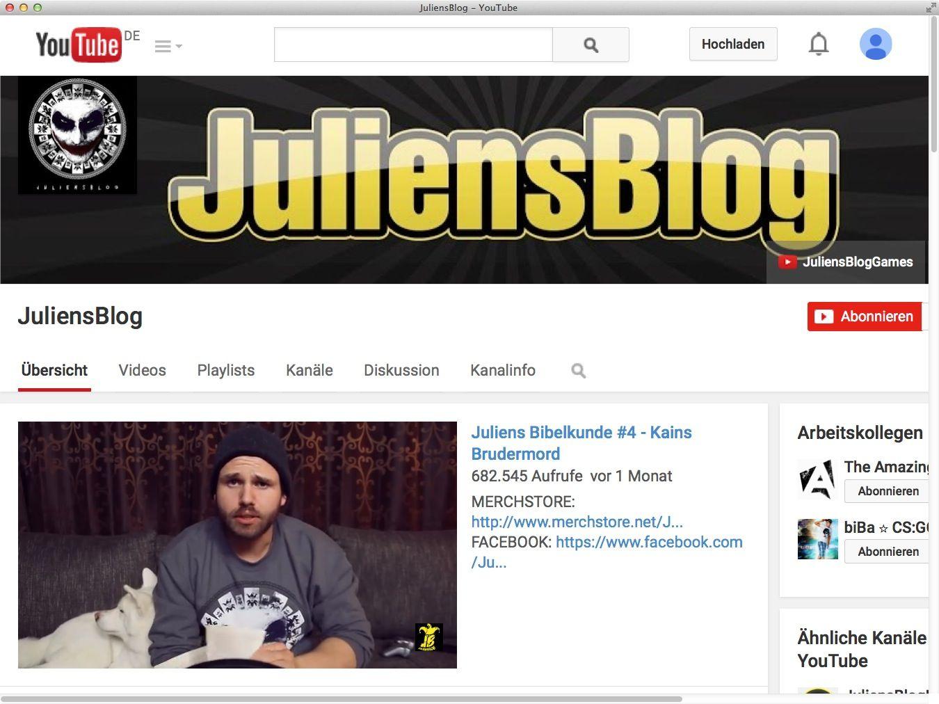 NUR ALS ZITAT Screenshot Juliens Blog