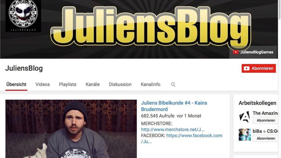 """YouTube-Kanal """"JuliensBlog"""": Mehr als eine Million Abonnenten mittels Pöbeleien"""
