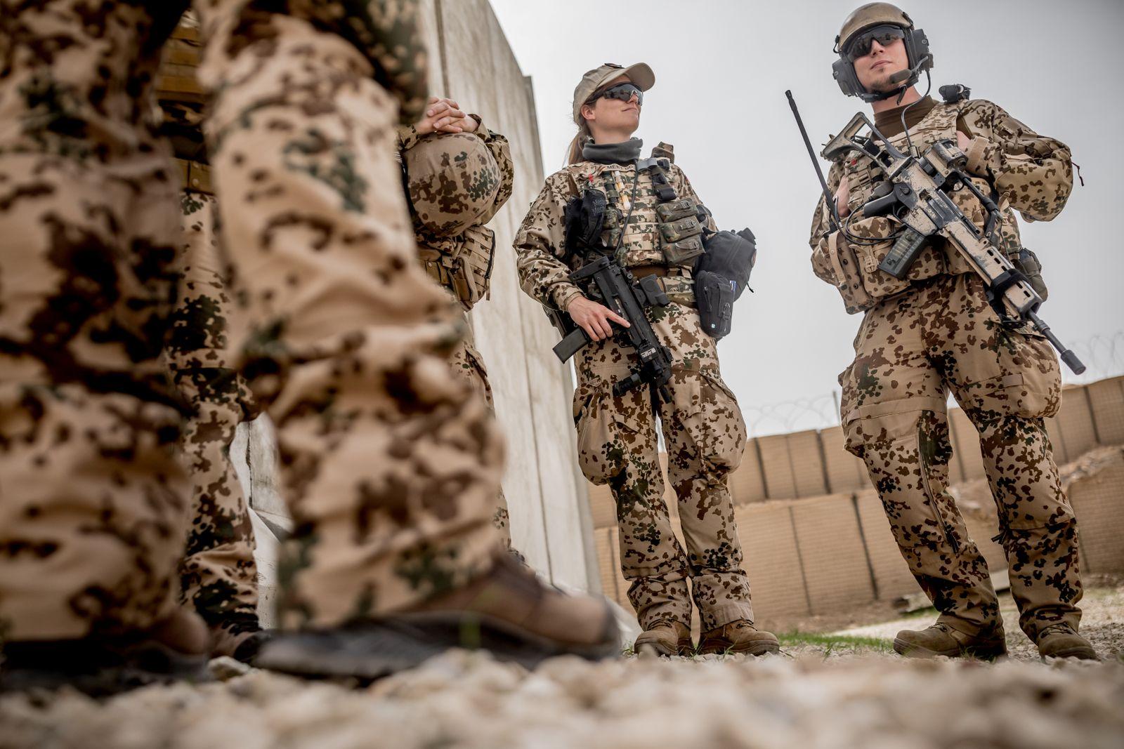 German Defence Minister Ursula von der Leyen visits troops in Afghanistan