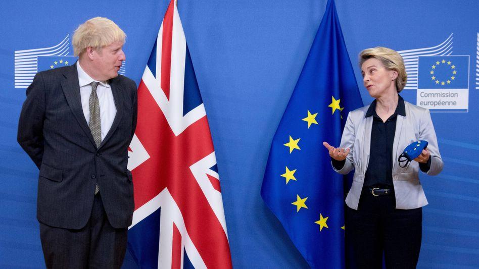 Britischer Premier Johnson, EU-Kommissionspräsidentin von der Leyen (Foto vom 12. Dezember)