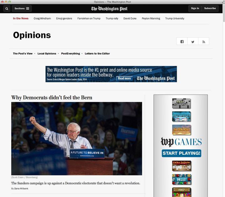 "Analyse der ""Washington Post"""