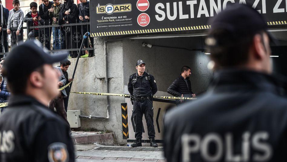 Istanbuler Parkhaus, in dem der Diplomatenwagen entdeckt wurde