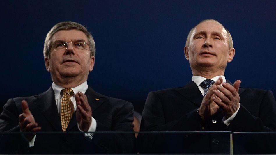 Thomas Bach (l.) und Wladimir Putin