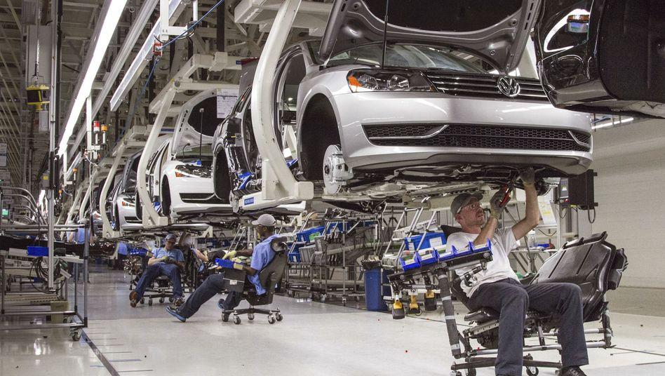 Arbeiter im Volkswagen-Werk in Chattanooga