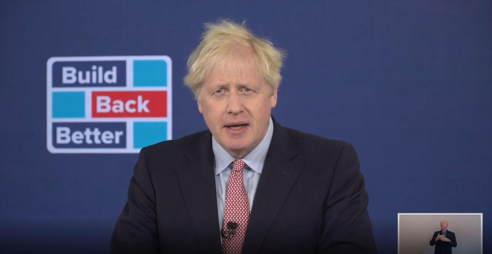 Großbritanniens Premierminister auf virtuellem Parteitag