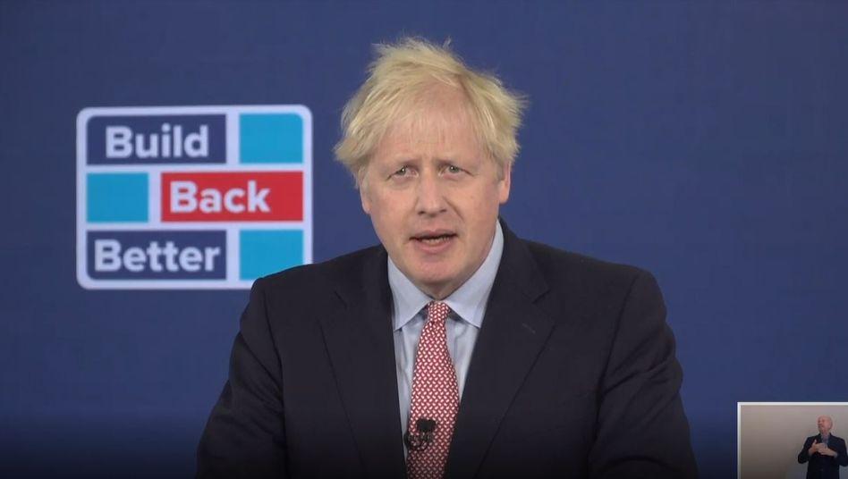 Spricht momentan nur digital zu den Massen: Boris Johnson