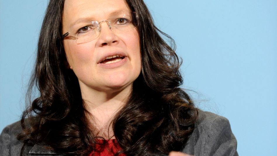 """SPD-Generalsekretärin Nahles: """"Wir sind nicht die USA"""""""