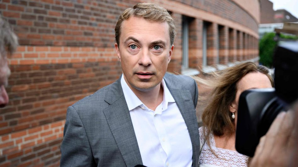 Der dänische Rechtspopulist Morten Messerschmidt am ersten Prozesstag