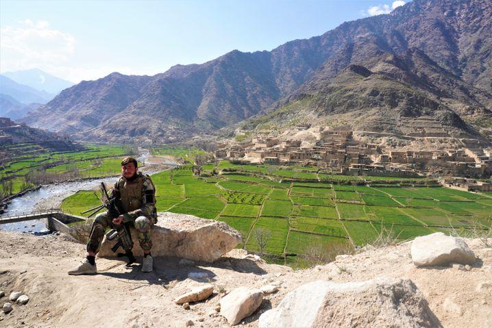 Soldat Hamza Mohammadi im Pech-Tal