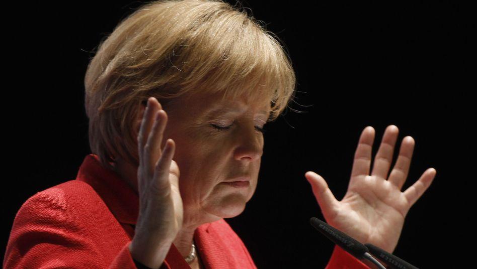 """Kanzlerin Merkel: """"Was meinen Sie mit privatem Sektor?"""""""