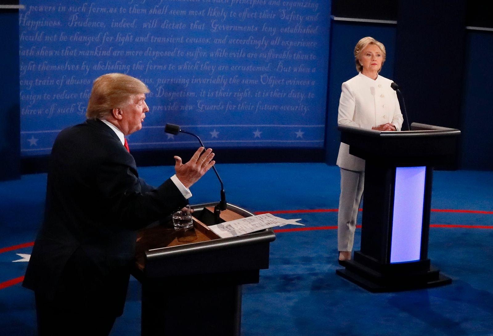 Final Presidential Debate Between Hillary Clinton and Donald Trump