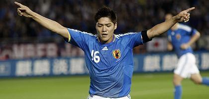 Japaner Okubo (im Länderspiel gegen Oman): Stetiges Wachstum