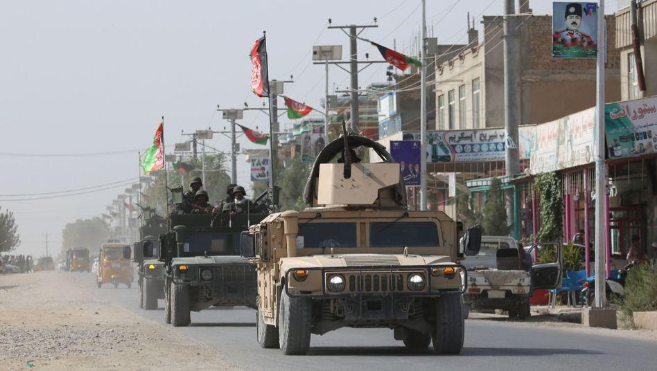 Afghanische Sicherheitskräfte versuchen die Taliban-Angriffe auf Kunduz abzuwehren