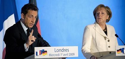 """Sarkozy, Merkel in London: """"Die Zeit, als Gipfel nutzlos waren, ist vorbei"""""""