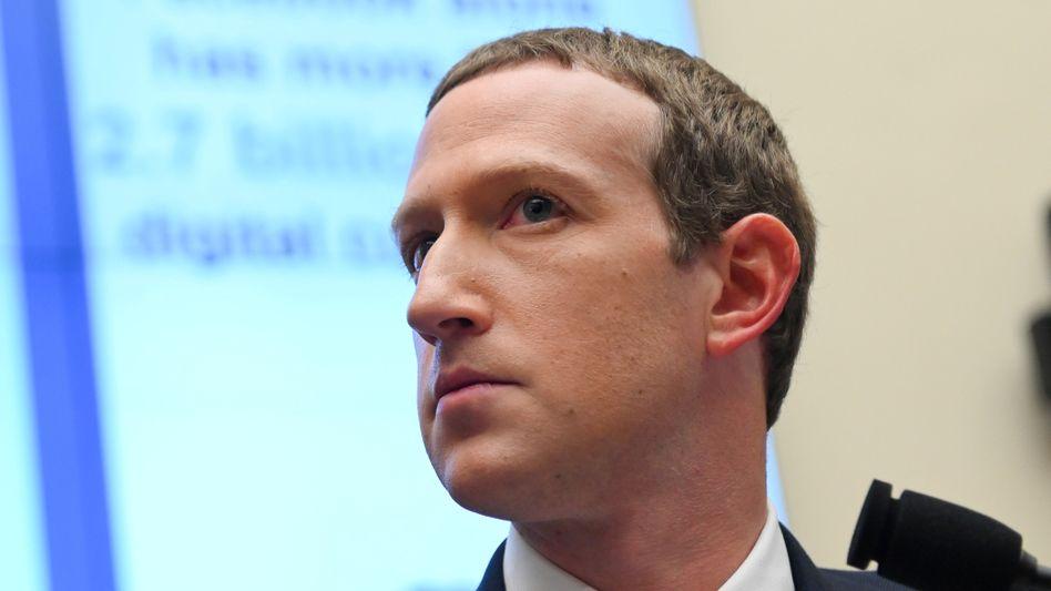 Facebook-Chef Mark Zuckerberg, hier bei einer Anhörung in Washington im Oktober 2019
