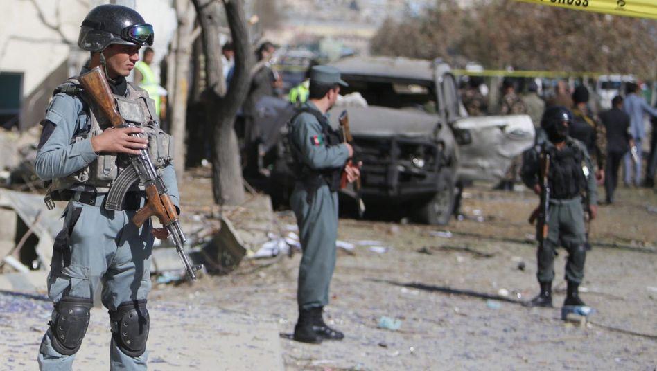 Sicherheitskräfte in Kabul: Deutsche Soldaten helfen bei der Ausbildung