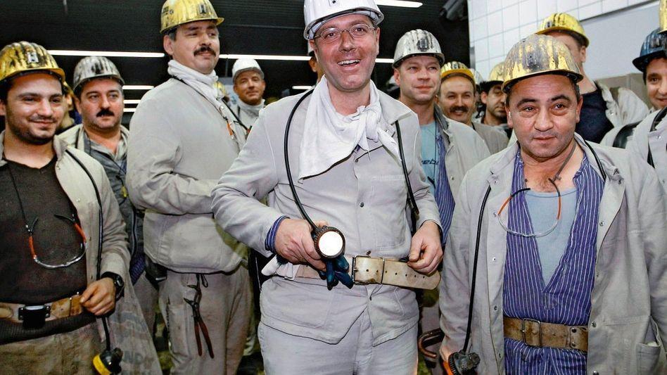 Umweltminister Röttgen beim Besuch eines Bergwerks im Januar: Er kann zu einem Politiker werden, der zu viel wollte und alles verlor