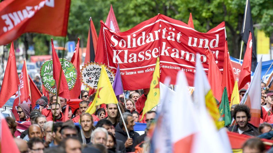 Demonstration am Tag der Arbeit