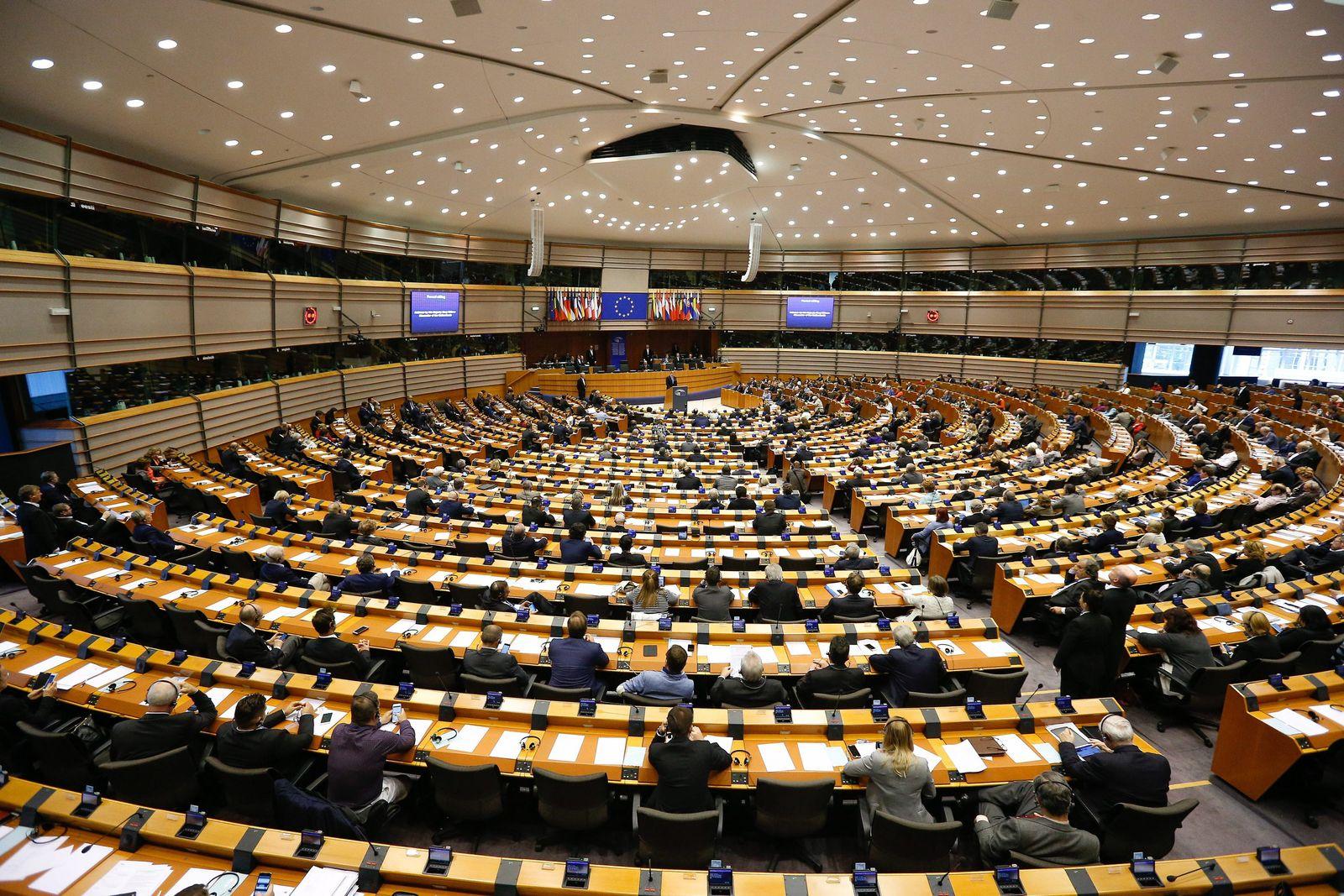 Dutch King Willem-Alexander adresses EU parliament in Brussels