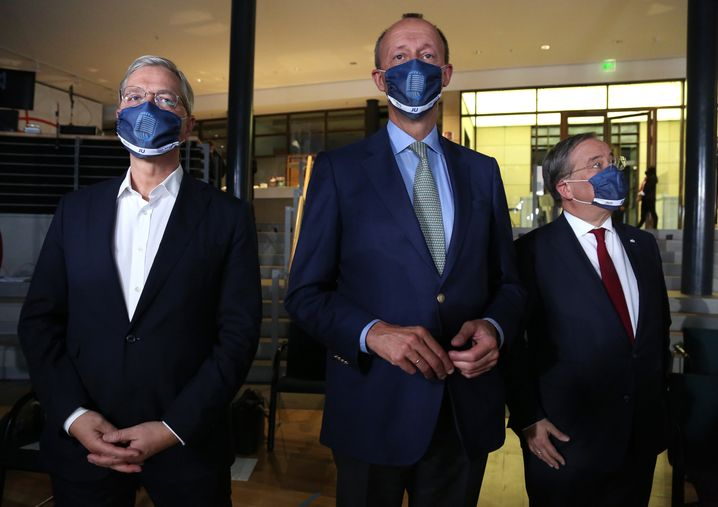 Kandidaten Röttgen, Merz, Laschet