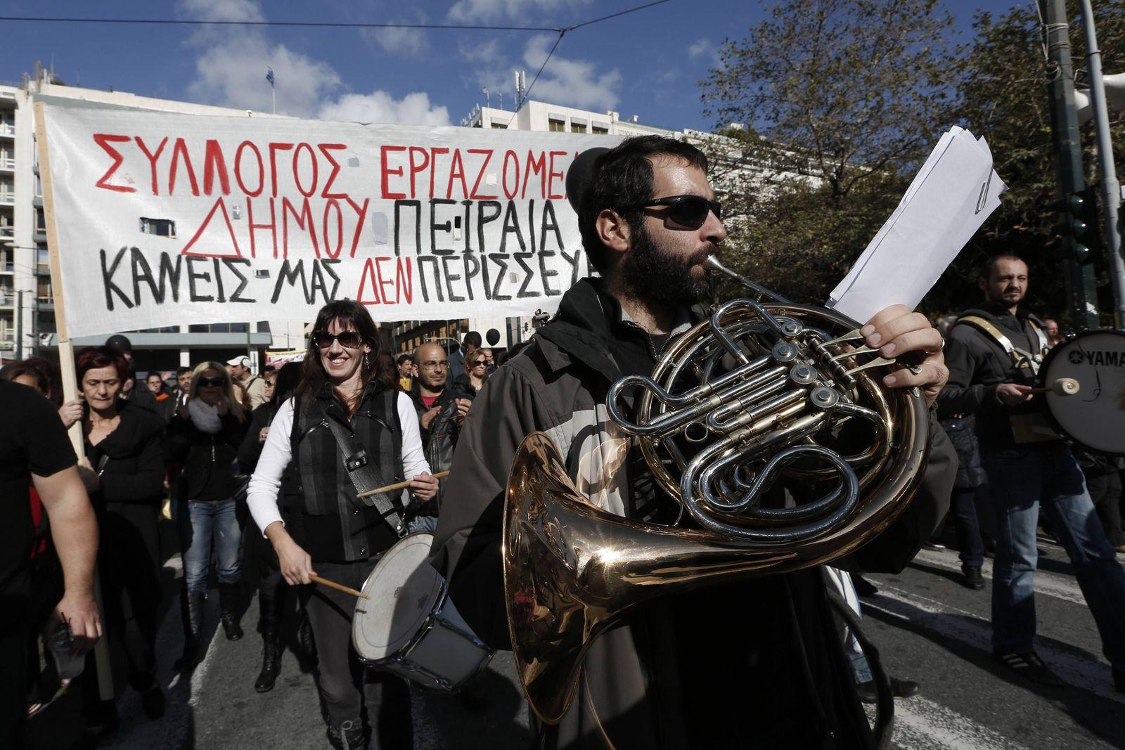 Griechenland Protest Instrument