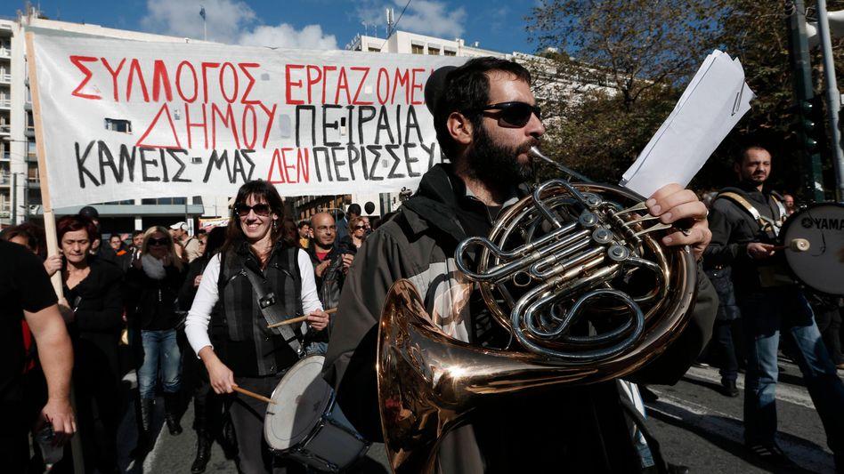 Demonstration in Athen: Wut auf Regierungsparteien