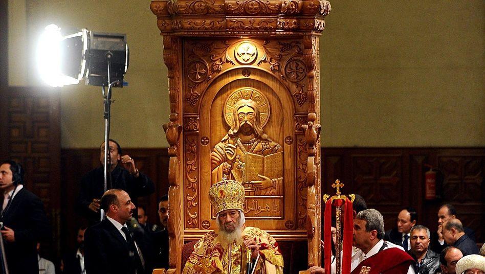 Weihnachtsmesse in der Kathedrale von Kairo: Mehr Besucher als sonst