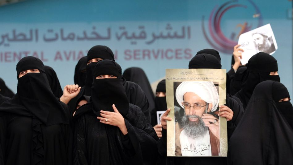 Demonstration in Qatif im Januar 2016