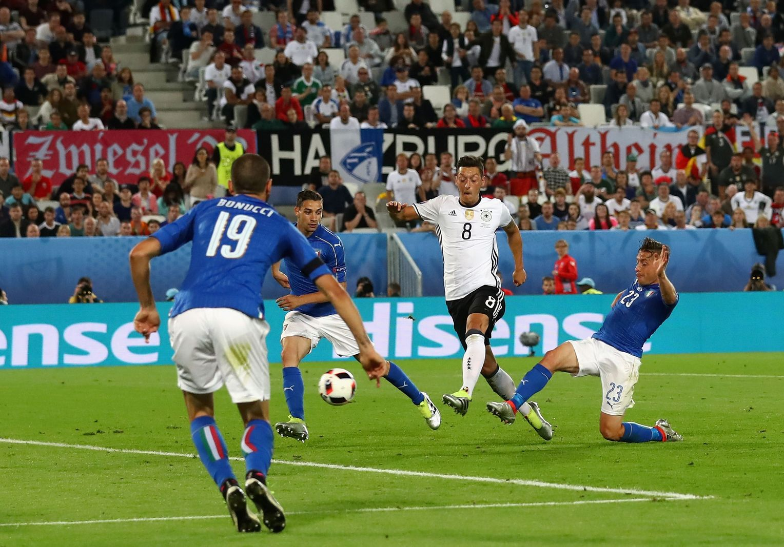 Menükarte UEFA Euro 2.7.2016 Deutschland Italien Match 47
