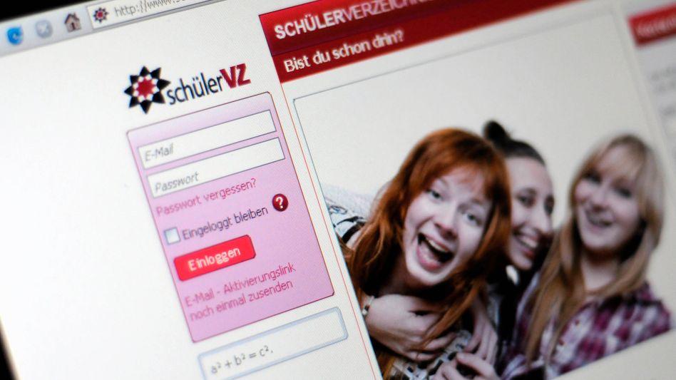 """Startseite von SchülerVZ: """"Über juristische Konsequenzen aufklären"""""""