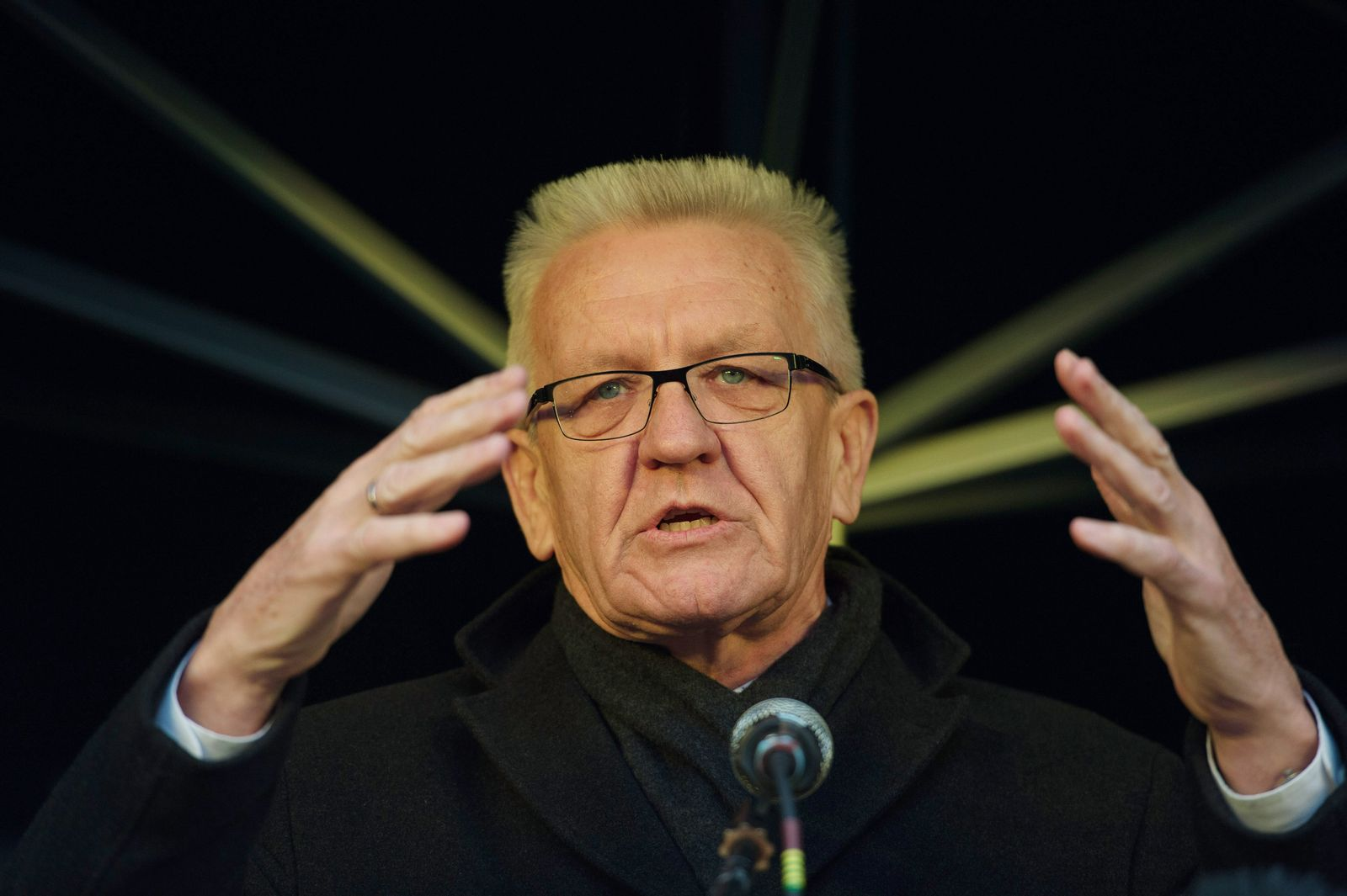 Landtagswahl 2016 - Kretschmann im Wahlkampf