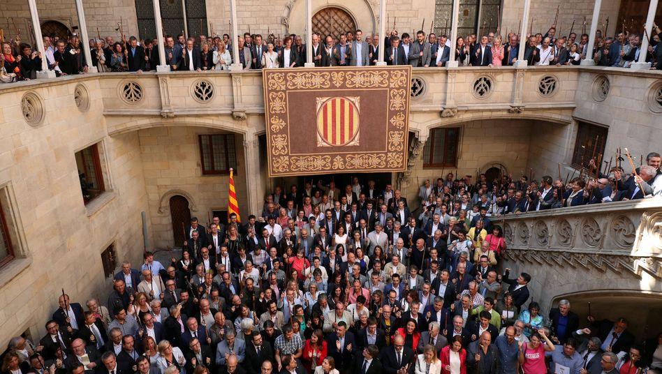 In Barcelona versammelte Bürgermeister