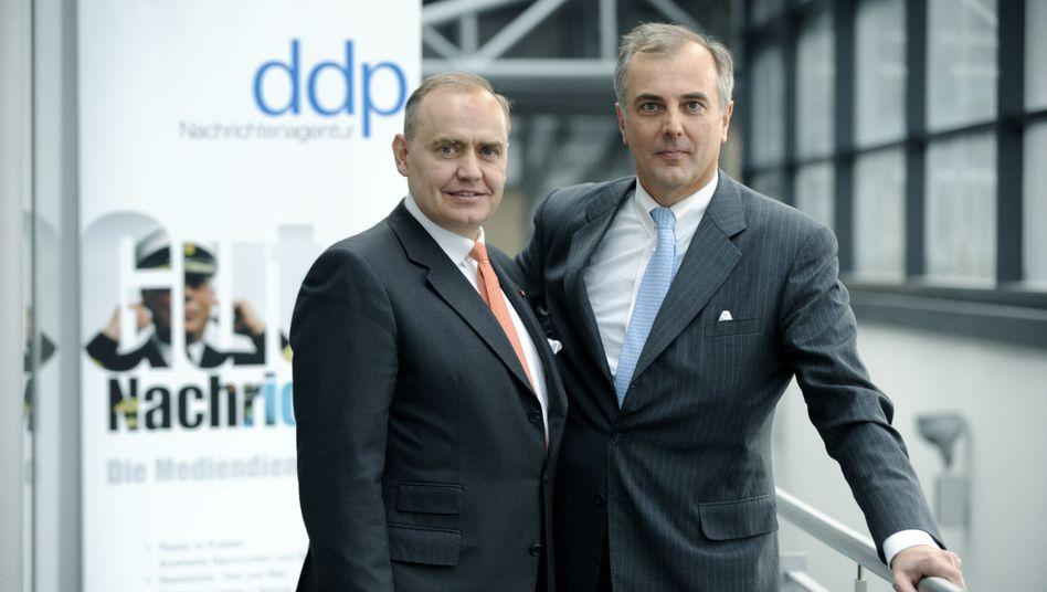 ddp-Eigentümer Peter Löw (l.) und Martin Vorderwülbecke: Interesse am Mitbewerber AP