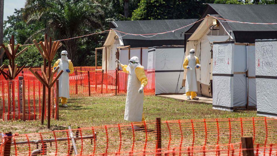 Ebola-Behandlungszentrum bei Mbandaka (Archivbild vom 1. Juni)