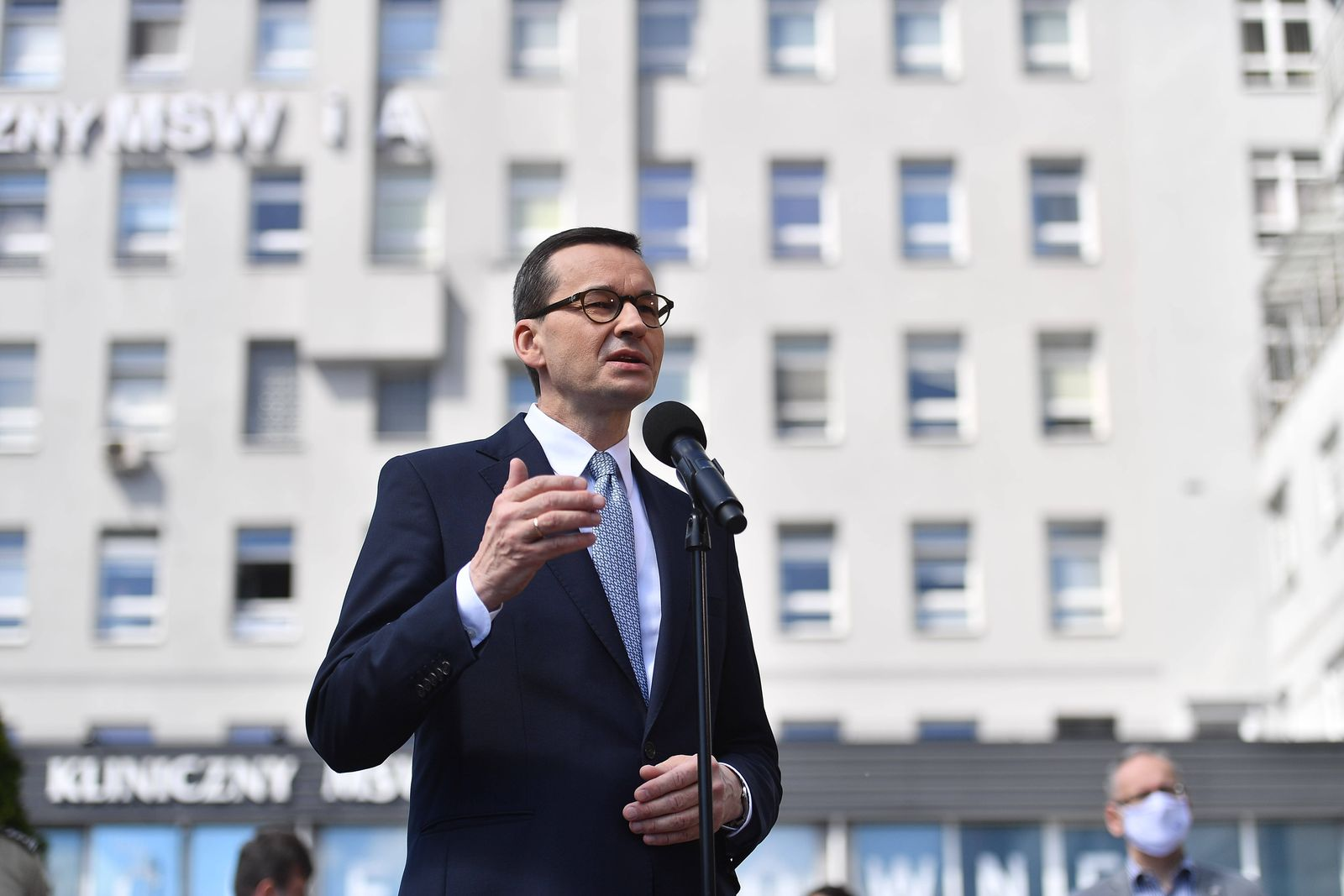 A Press conference of Prime Minister Mateusz Morawiecki, Minister of Health Lukasz Szumowski and Minister of the Interi