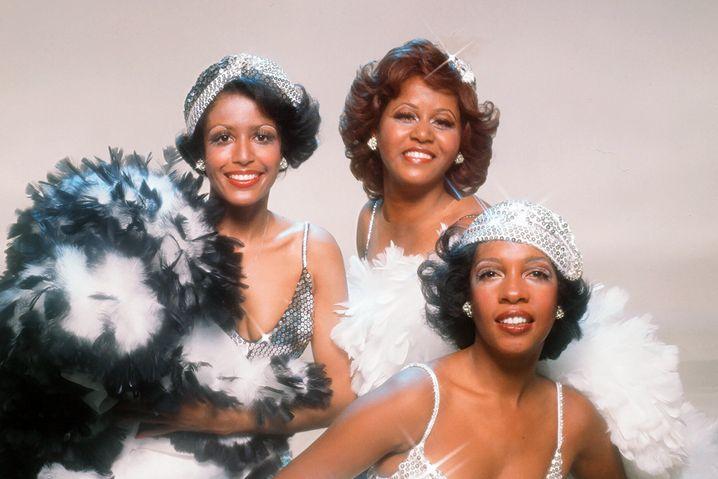 Mary Wilson (links) mit den Supremes nach Diana Ross' Ausstieg