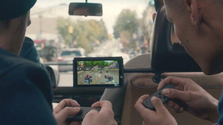 Switch-Spieler im Auto