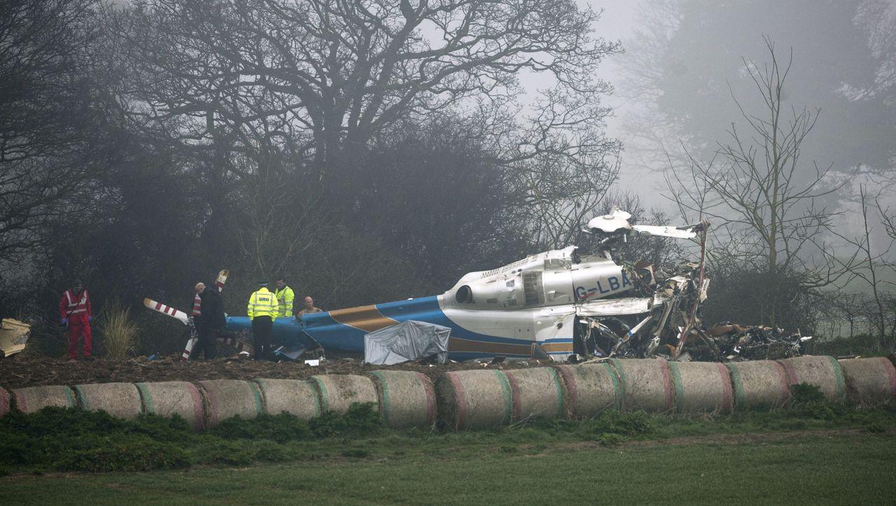 Hubschrauberabsturz England