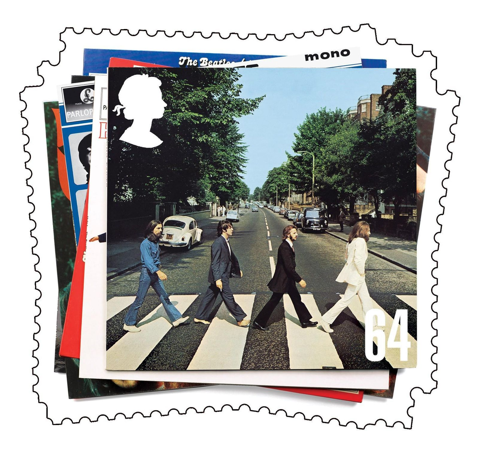 Beatles Briefmarke / Abbey Road